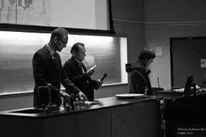 Dr. William Egginton (Johns Hopkins University), Dr. Nicasio Urbina (University of Cincinnati), and Dr. Andrés Pérez-Simón (University of CIncinnati).
